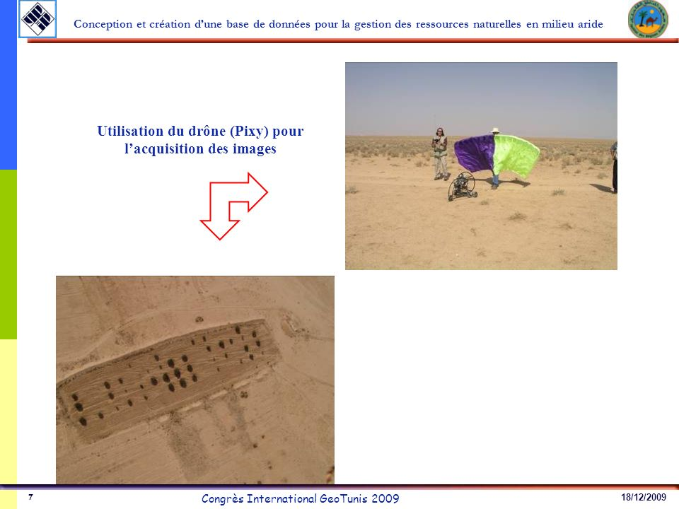 18/12/2009 Congrès International GeoTunis 2009 Conception et création dune base de données pour la gestion des ressources naturelles en milieu aride 7