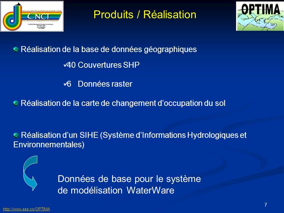 8 622-700m 545-622m 467-545m 389-467m 311-389m 155-233m 233-311m 77-155m 0-77m Hydrographie Altitude Carte des altitudes et du réseau hydrographique du BV de loued Mélian Étude hydrologique du BV Géométrie du BV Relief du BV Densité de drainage Apports liquides http://www.ess.co/OPTIMA