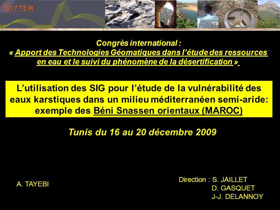 Répartition des ressources en eau dans le massif des Béni Snassen: ConclusionIntroductionÉvaluation des critèresCalcul de facteur de pondération