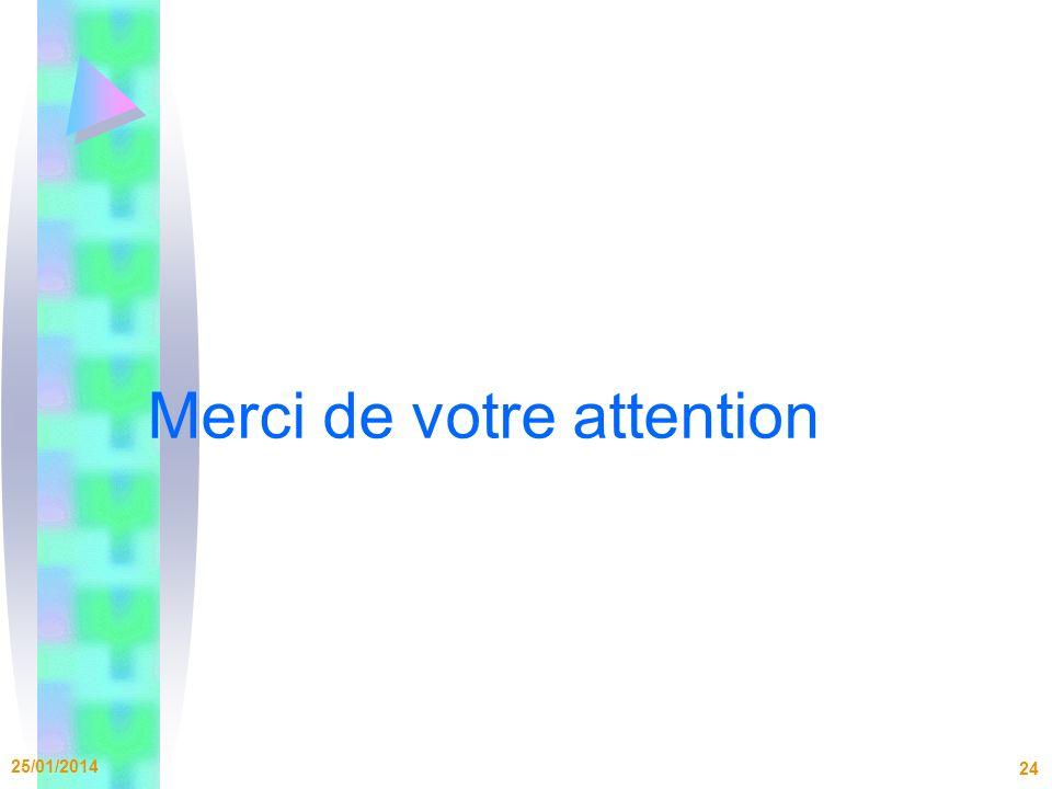 Merci de votre attention 25/01/2014 24