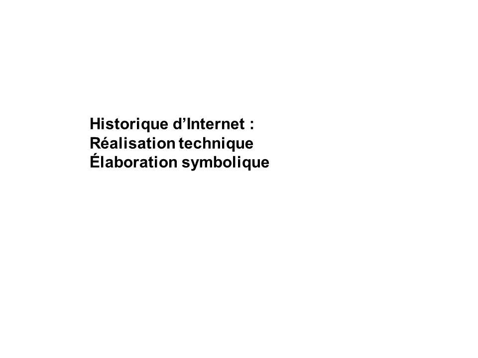 Historique dInternet : Réalisation technique Élaboration symbolique
