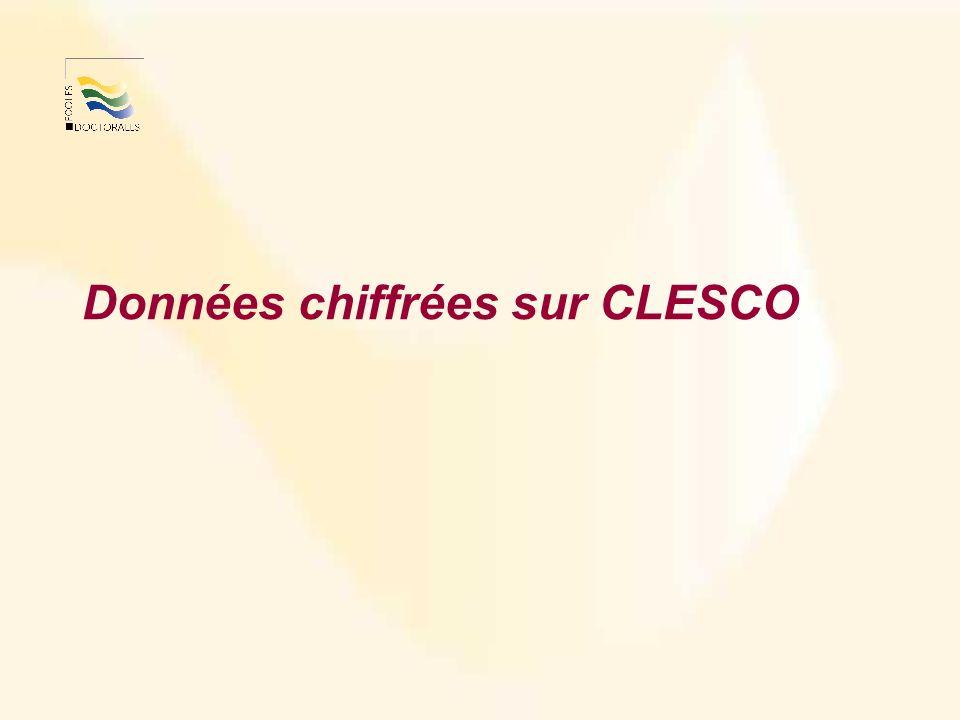 Données chiffrées sur CLESCO