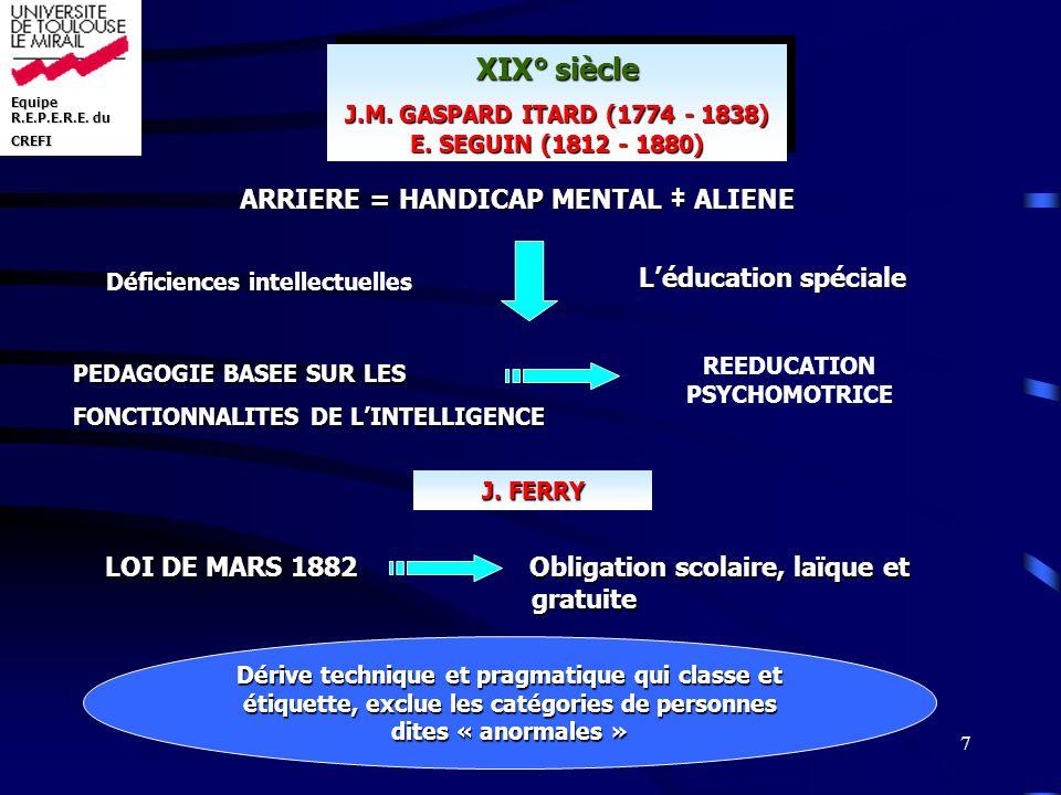 Equipe R.E.P.E.R.E.du CREFI 8 EN CONCLUSION...