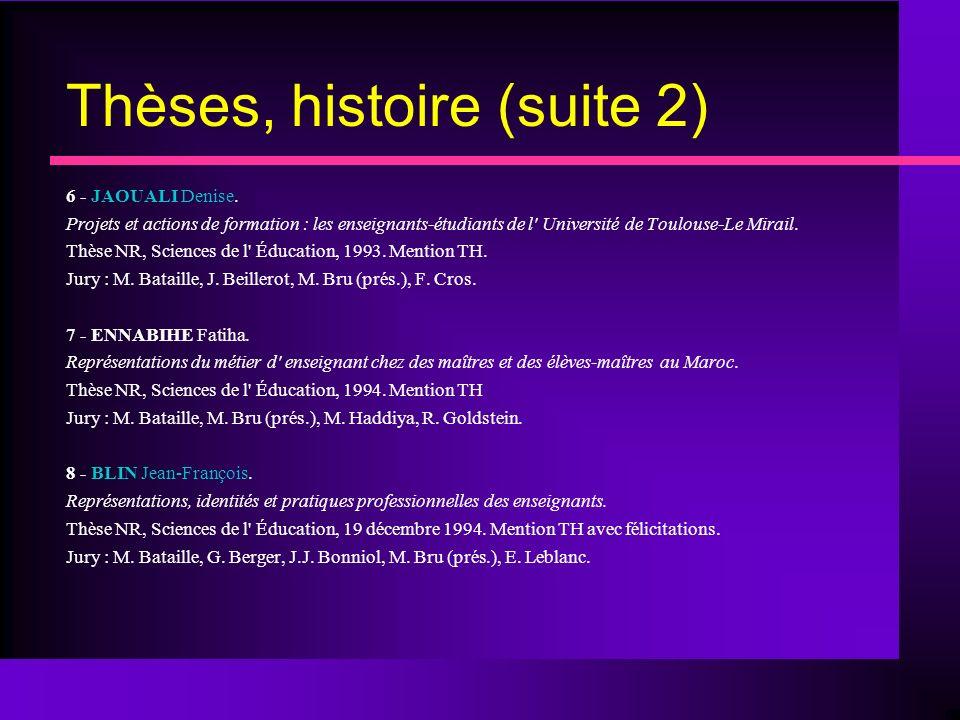 Thèses, histoire (suite 2) 6 - JAOUALI Denise.