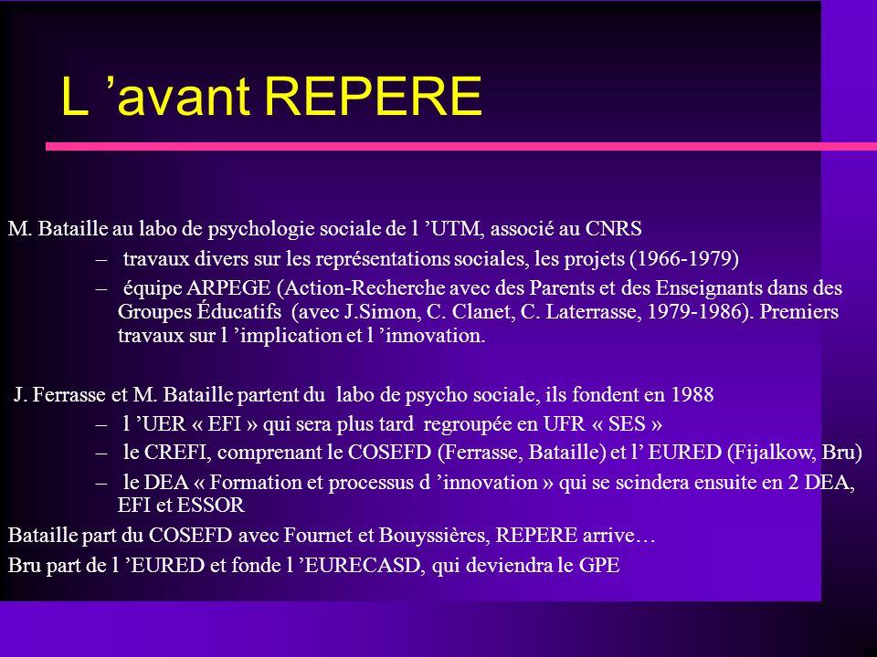 L avant REPERE M.