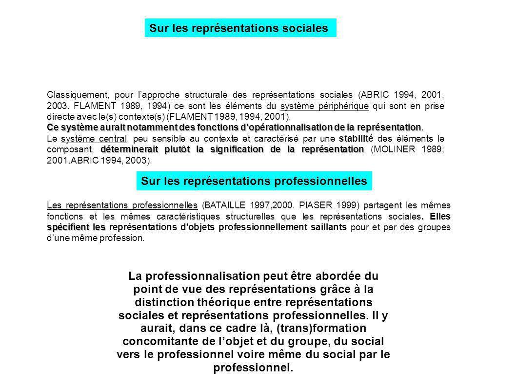POUR ALLER PLUS AVANT DANS LA RECHERCHE Les résultats de cette recherche concernant les liens entre groupe, représentations et implication sont à mettre en perspective des enjeux qui parcourent le champ de l animation en France.