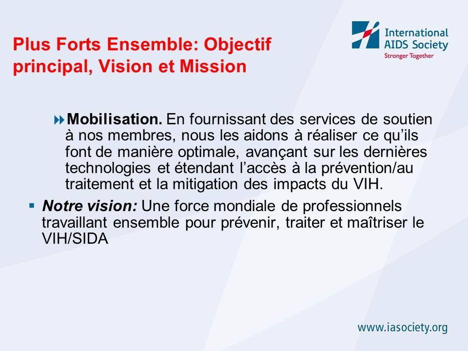 Plus Forts Ensemble: Objectif principal, Vision et Mission Mobilisation. En fournissant des services de soutien à nos membres, nous les aidons à réali