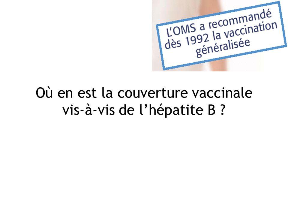 Où en est la couverture vaccinale vis-à-vis de lhépatite B ?