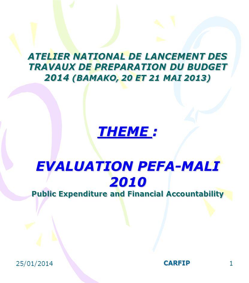 I- RESULTATS DU PEFA 2010 La budgétisation est fondée sur les politiques nationales.