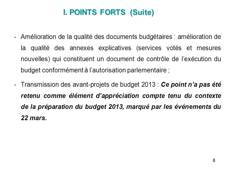 6 Amélioration de la qualité des documents budgétaires : amélioration de la qualité des annexes explicatives (services votés et mesures nouvelles) qu