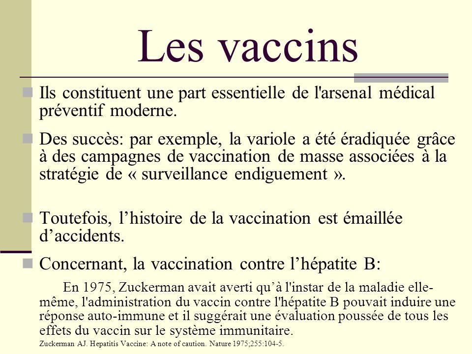 Les vaccins Ils constituent une part essentielle de l'arsenal médical préventif moderne. Des succès: par exemple, la variole a été éradiquée grâce à d