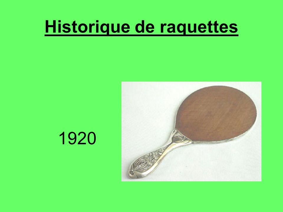 Historique de raquettes 1920