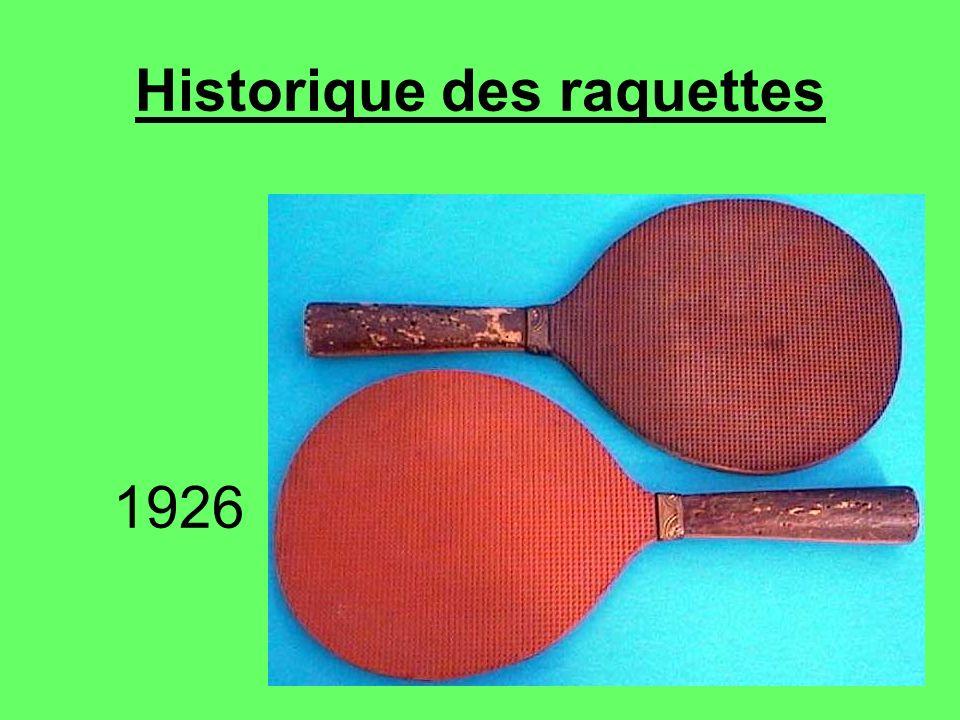 Historique des raquettes 1926