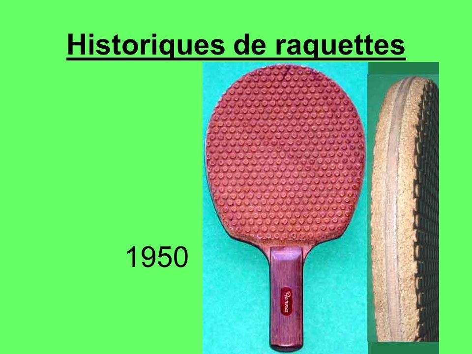 Historiques de raquettes 1950
