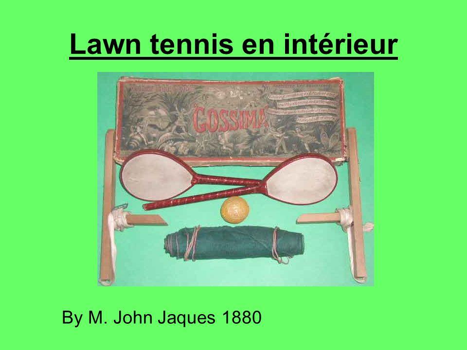 Lawn tennis en intérieur By M. John Jaques 1880