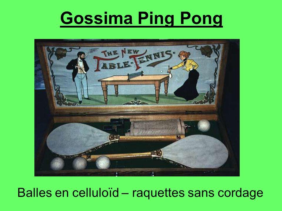 Balles en celluloïd – raquettes sans cordage Gossima Ping Pong