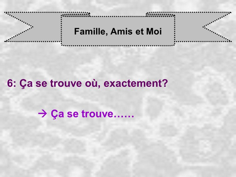 Famille, Amis et Moi 7: Tu as des frères, ou des soeurs.