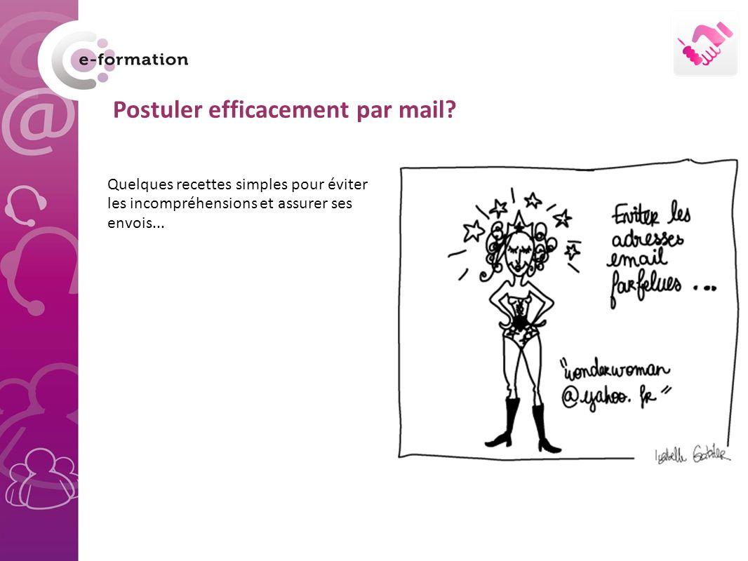 Postuler efficacement par mail.