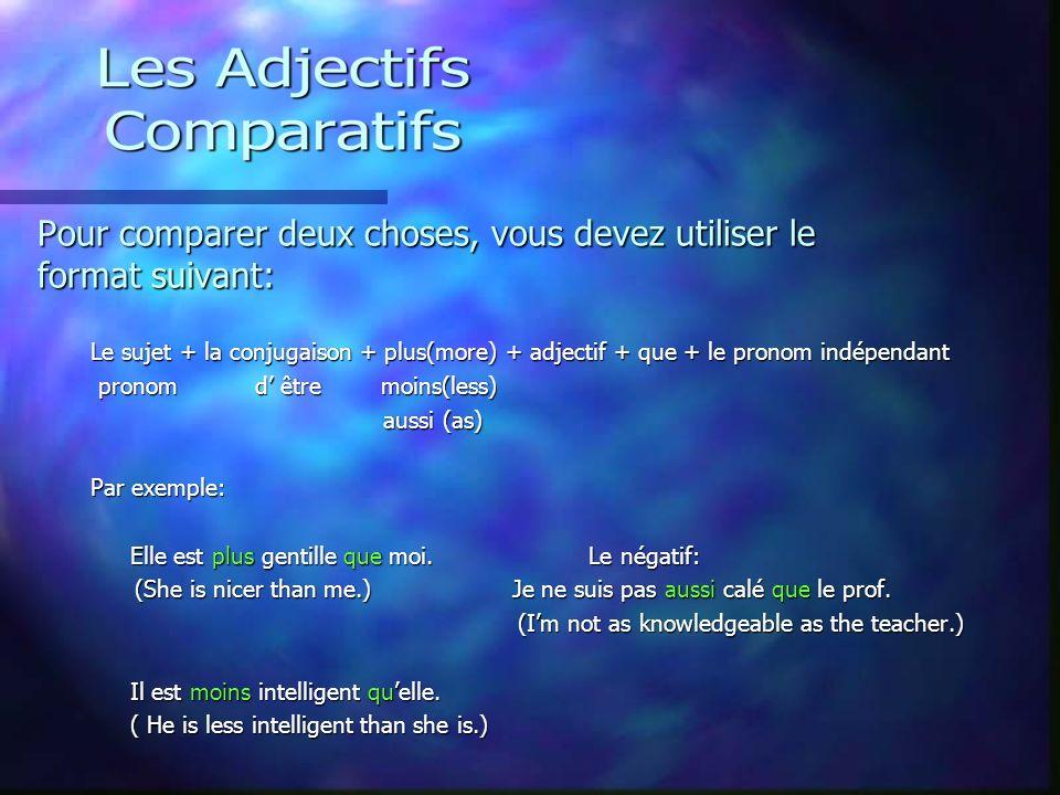 Il y a beaucoup de phrases qui emploient des adjectifs! Regardez! Comme cest (+ adjectif)………… Comme cest (+ adjectif)………… How______ it is! How______ i