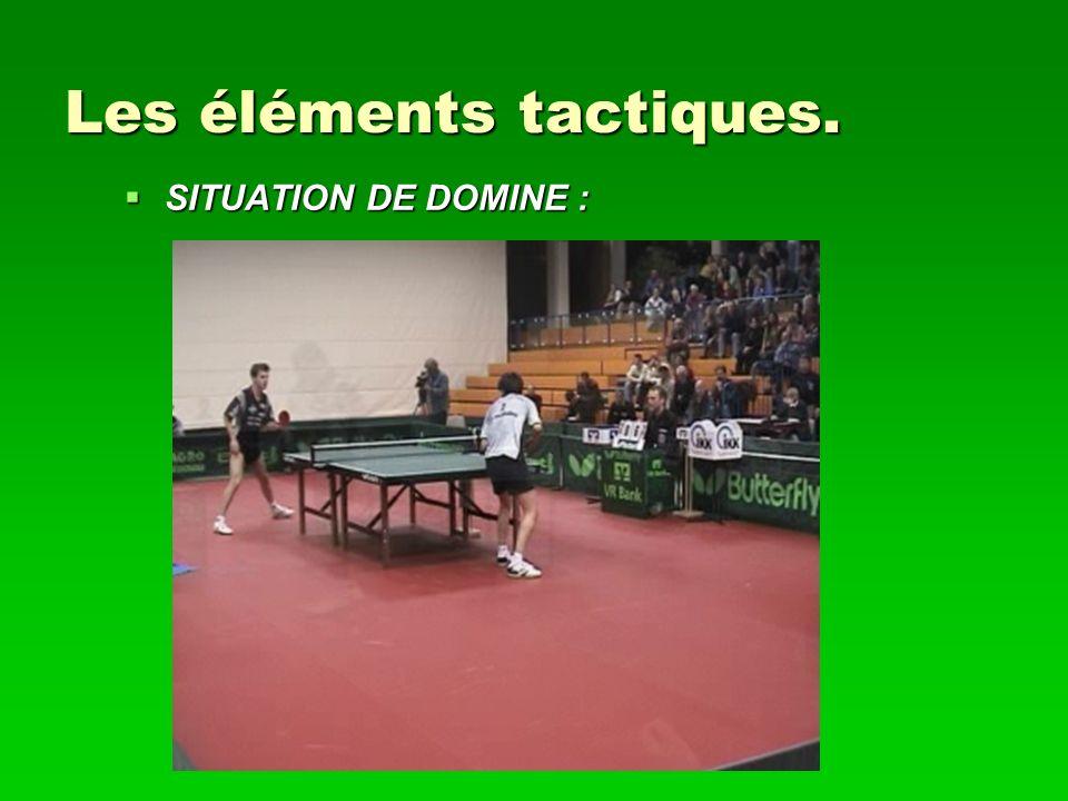 Les éléments tactiques. SITUATION DE DOMINE : SITUATION DE DOMINE :