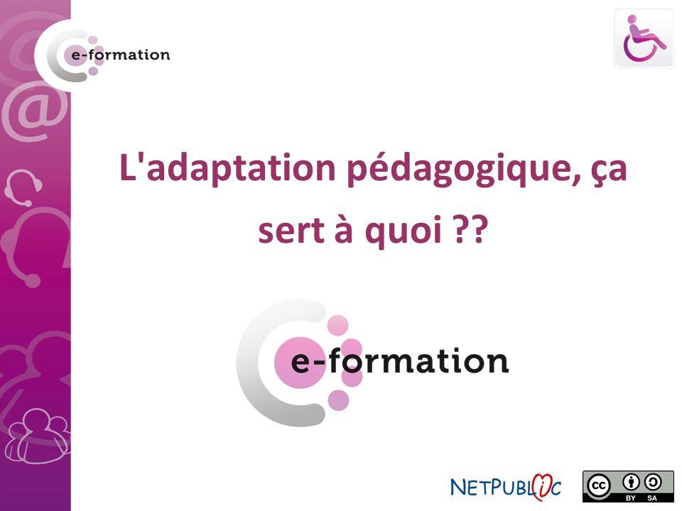 Pourquoi se poser la question de l adaptation pédagogique .