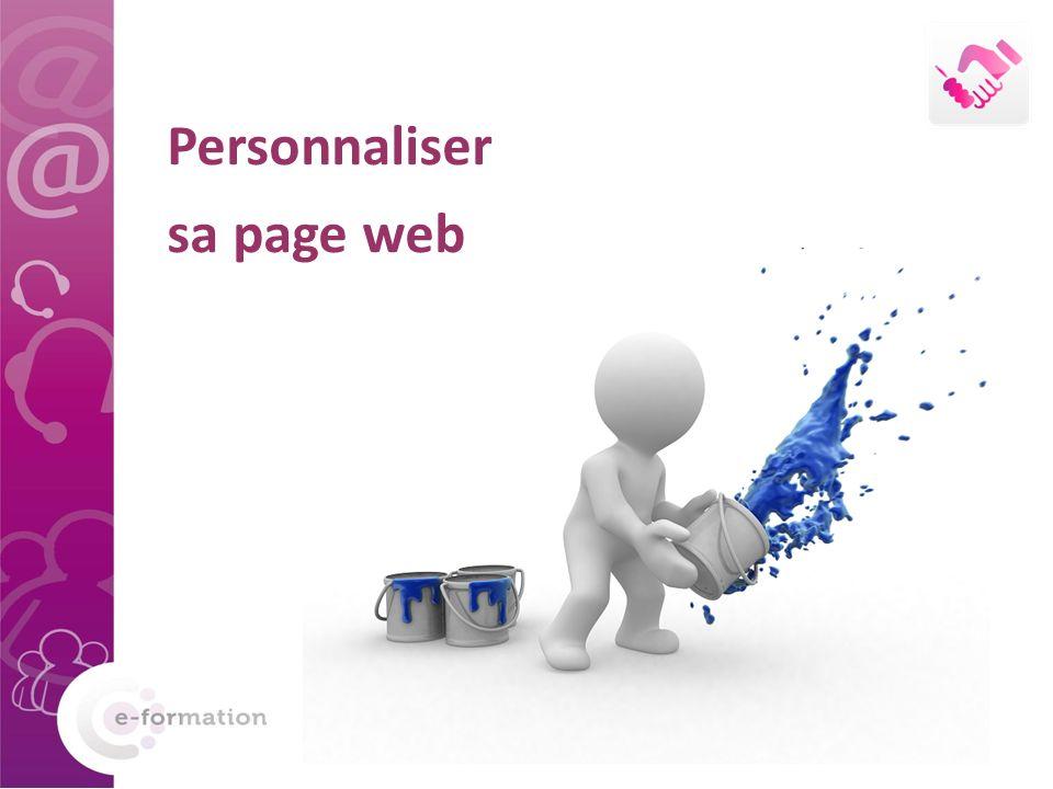 Personnaliser sa page web
