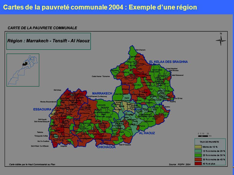 11 Mai 2007 Cartes de la pauvreté communale 2004 : Exemple dune région