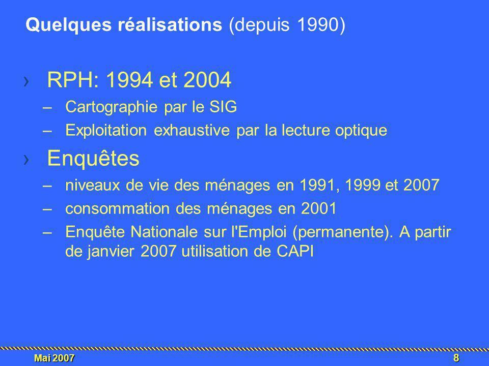 9 Mai 2007 RPH 2004 : scanning exhaustif des questionnaires