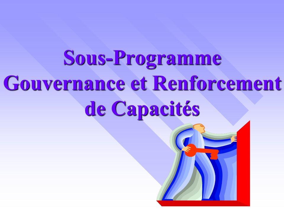 Sous-Programme Gouvernance et Renforcement de Capacités