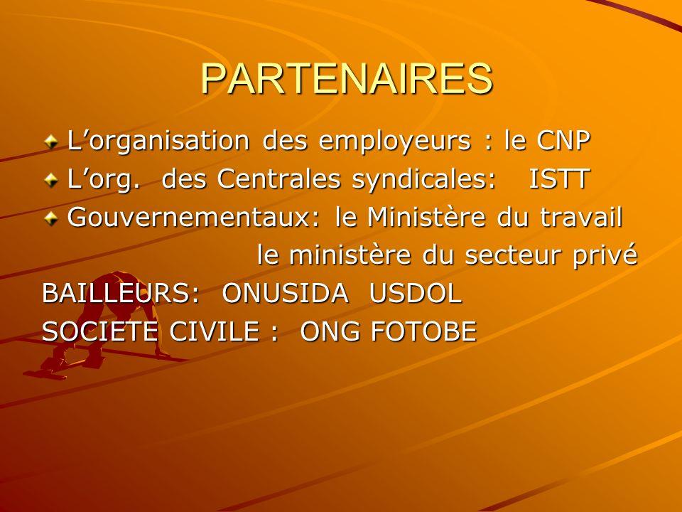 PARTENAIRES PARTENAIRES Lorganisation des employeurs : le CNP Lorg.