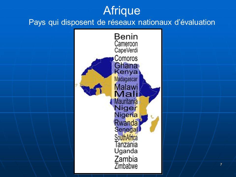 7 Afrique Pays qui disposent de réseaux nationaux dévaluation