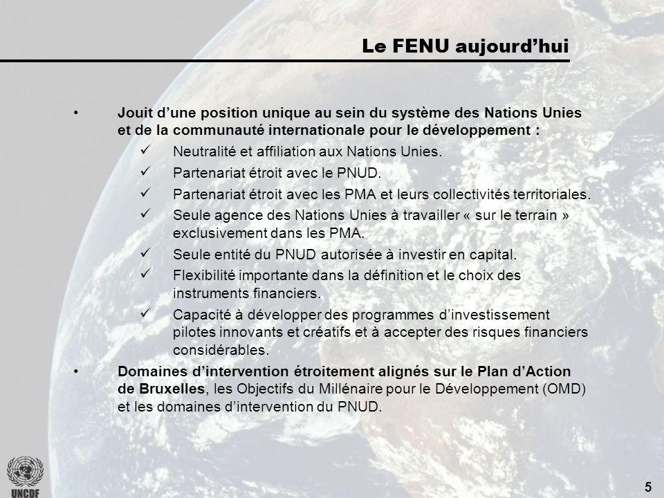 4 1973 : La mission du FENU est recentrée exclusivement sur les Pays les Moins Avancés (PMA).