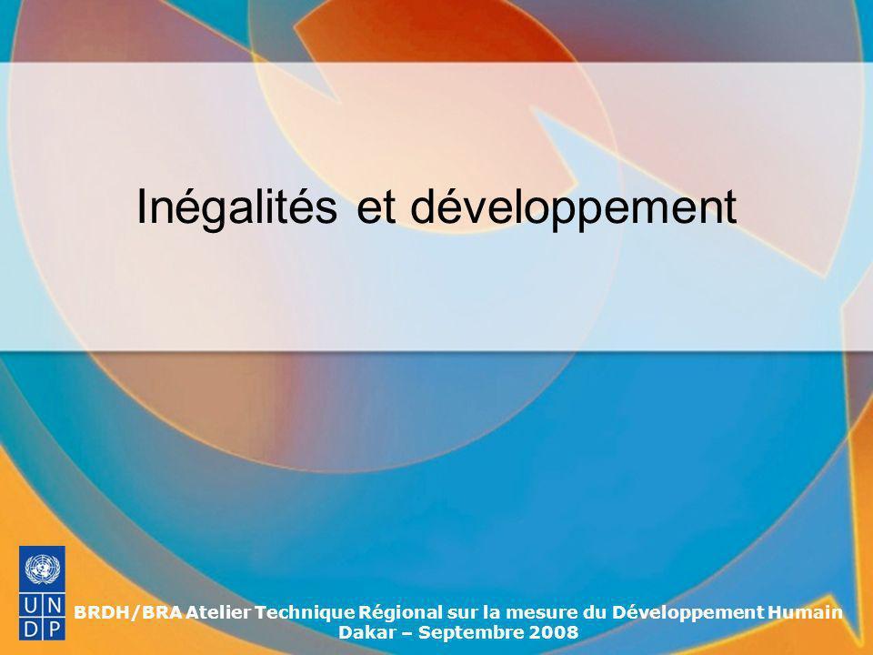 BRDH/BRA Atelier Technique Régional sur la mesure du Développement Humain Dakar – Septembre 2008 Conclusions (2) Toutes les approches sont utiles et complémentaires Leur utilisation dépend de la disponibilité de données … … Mais également, du type de problématiques que lon veut aborder