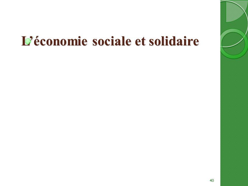 Léconomie sociale et solidaire 40