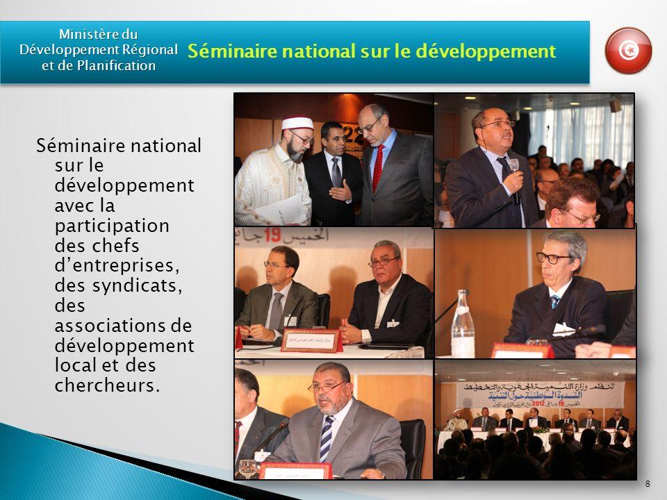 Séminaire national sur le développement avec la participation des chefs dentreprises, des syndicats, des associations de développement local et des chercheurs.