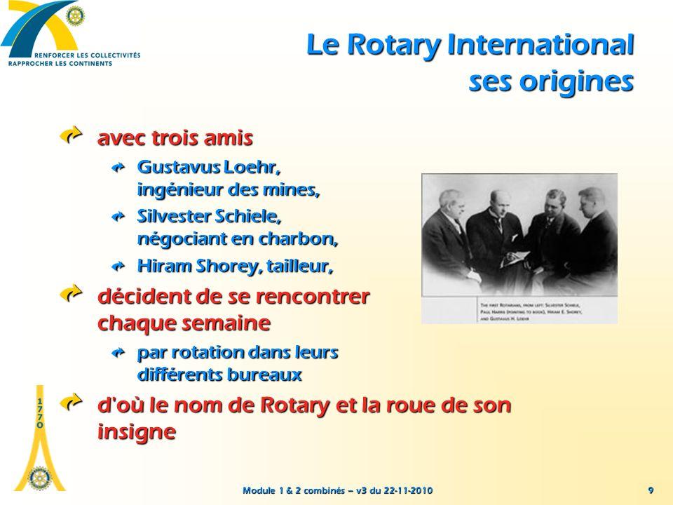 Module 1 & 2 combinés – v3 du 22-11-2010 Quelques interrogations à propos du Rotary (liste non limitative !) à dominante professionnelle ou humanitaire .
