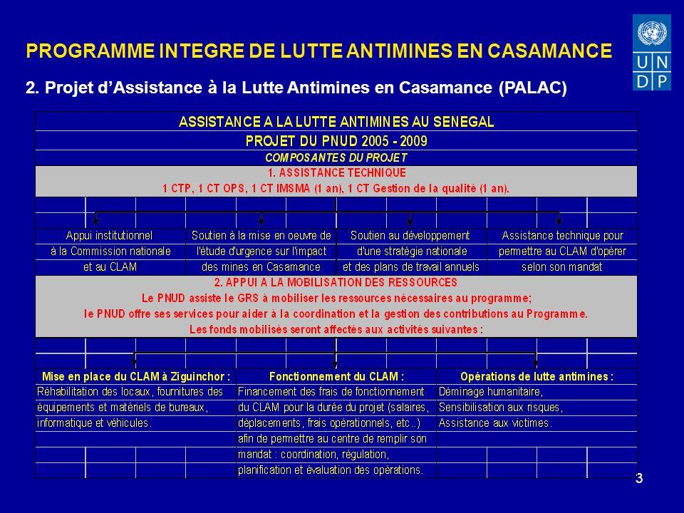 3 PROGRAMME INTEGRE DE LUTTE ANTIMINES EN CASAMANCE 2.