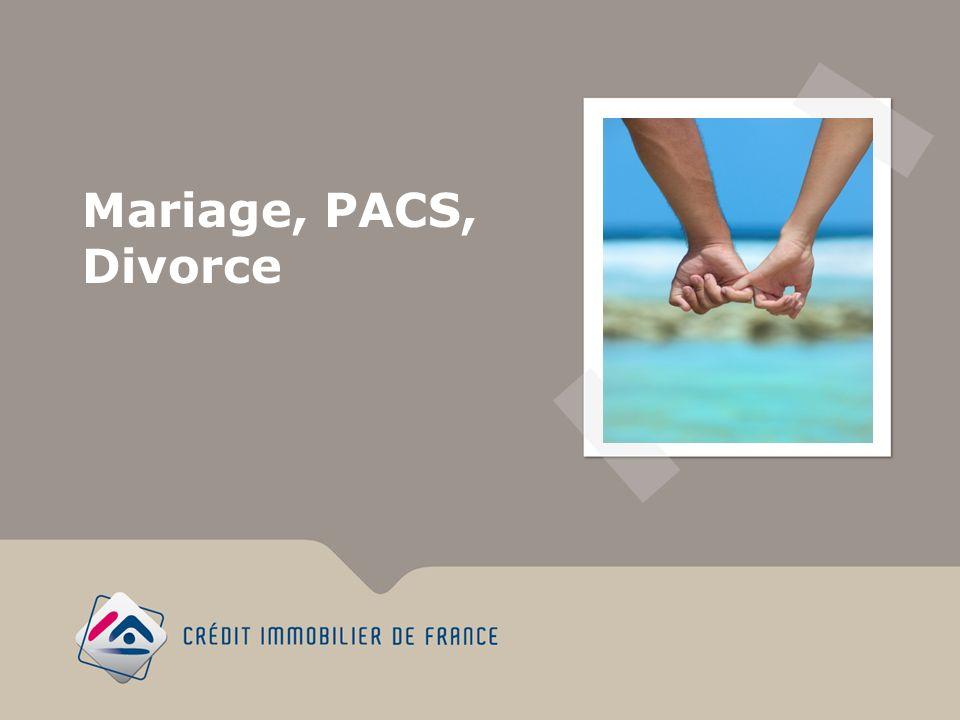 Mariage, PACS, Divorce