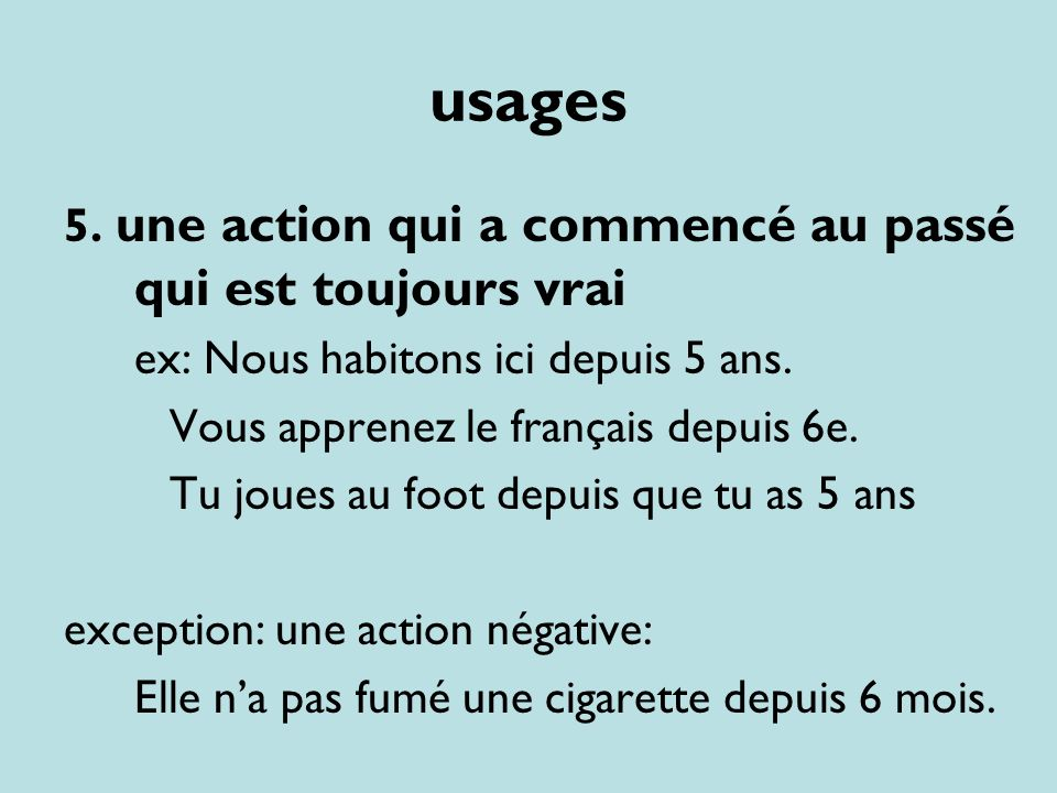 usages 6.