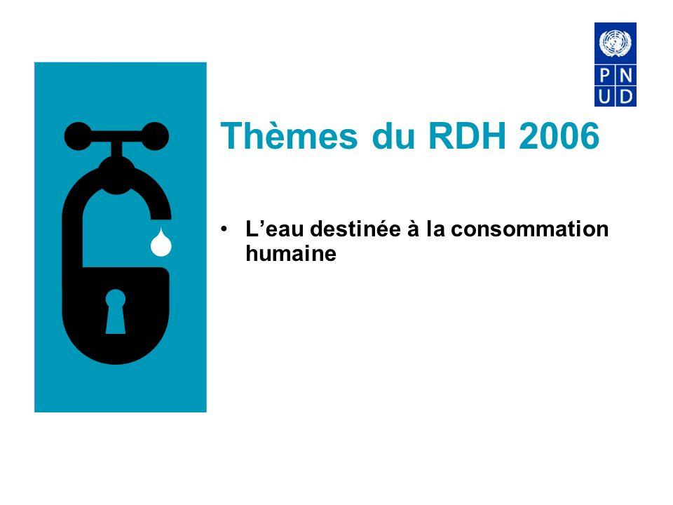 Thèmes du RDH 2006 Leau destinée à la consommation humaine