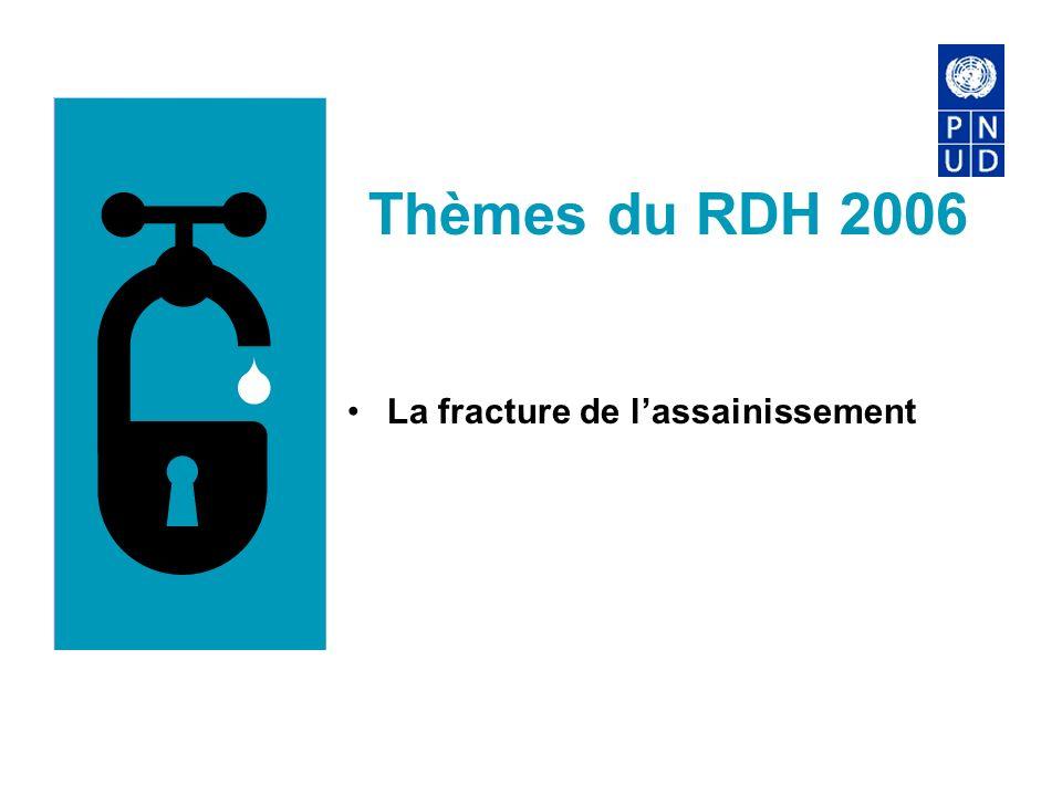 Thèmes du RDH 2006 La fracture de lassainissement