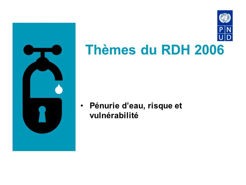 Thèmes du RDH 2006 Pénurie deau, risque et vulnérabilité