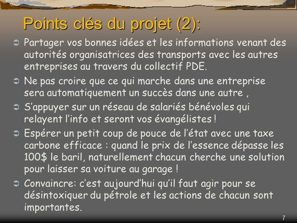 7 Points clés du projet (2): Partager vos bonnes idées et les informations venant des autorités organisatrices des transports avec les autres entreprises au travers du collectif PDE.