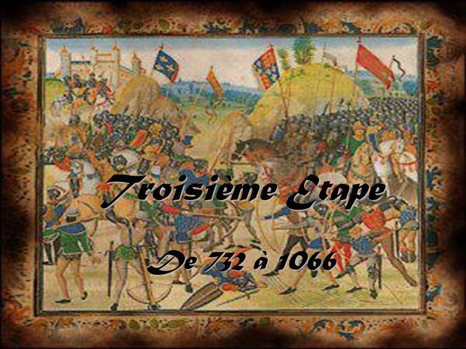 Le royaume en 842: divisé entre ses 3 petits-fils