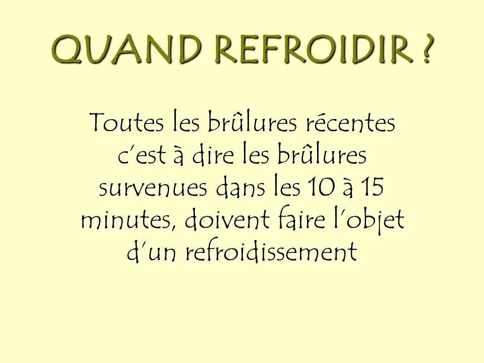 COMMENT REFROIDIR .