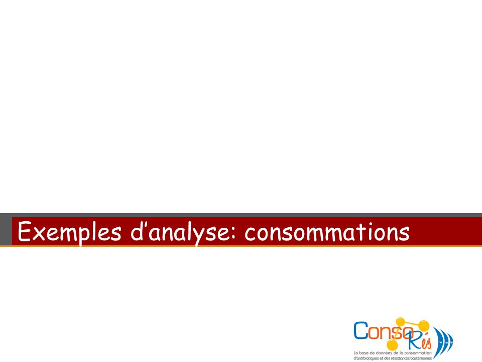 Exemples danalyse: consommations