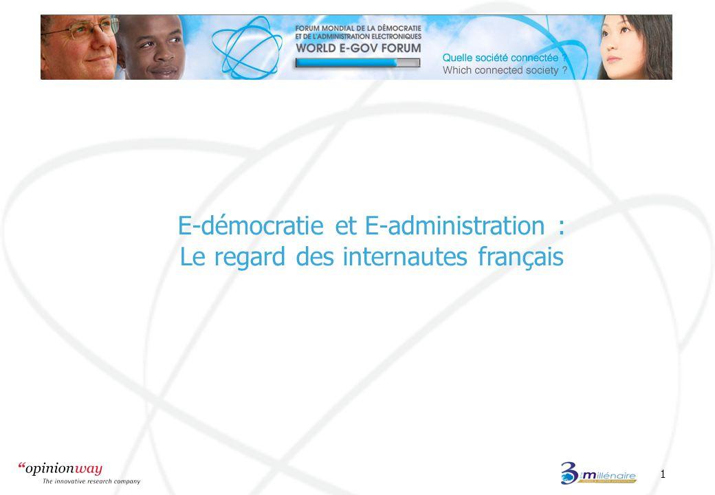 1 E-démocratie et E-administration : Le regard des internautes français