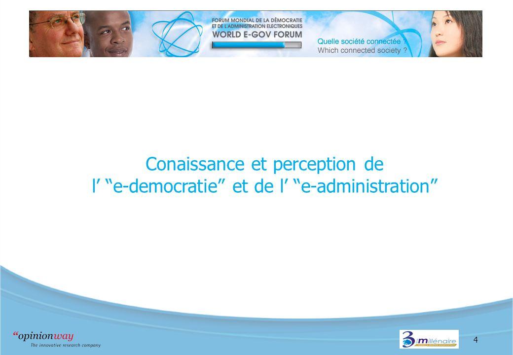 4 Conaissance et perception de l e-democratie et de l e-administration
