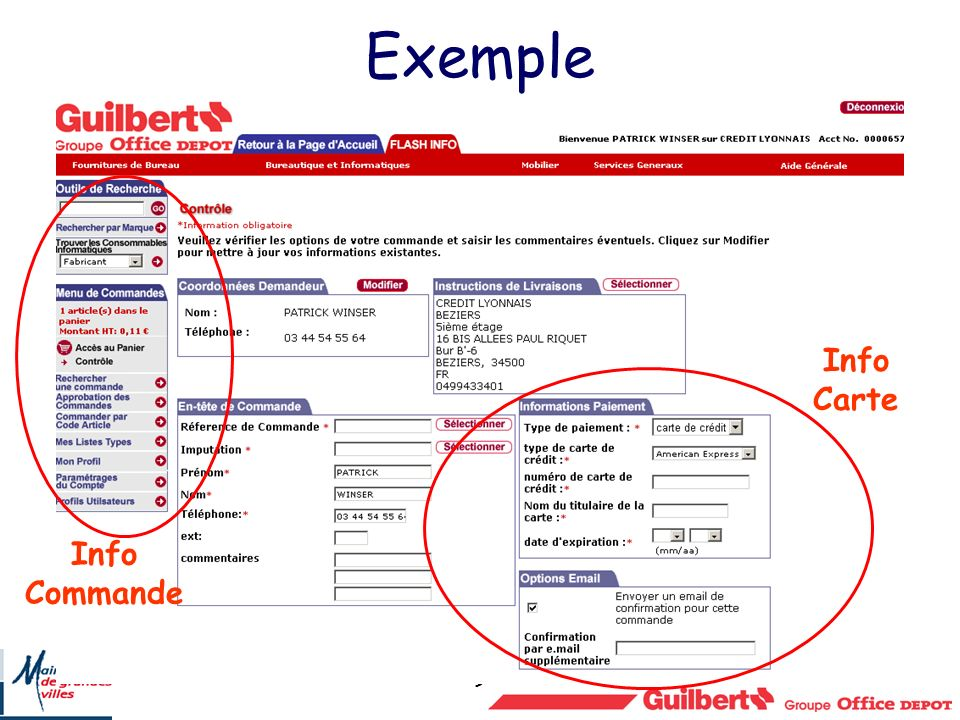 9 Exemple Info Carte Info Commande