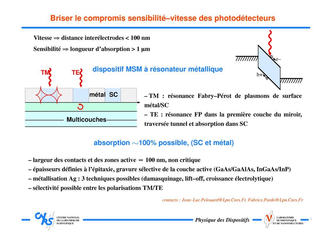 Photodétecteur ultra-rapide